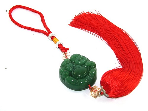 Laughing Buddha with Money Frog Tassel for Happiness and Money Luck