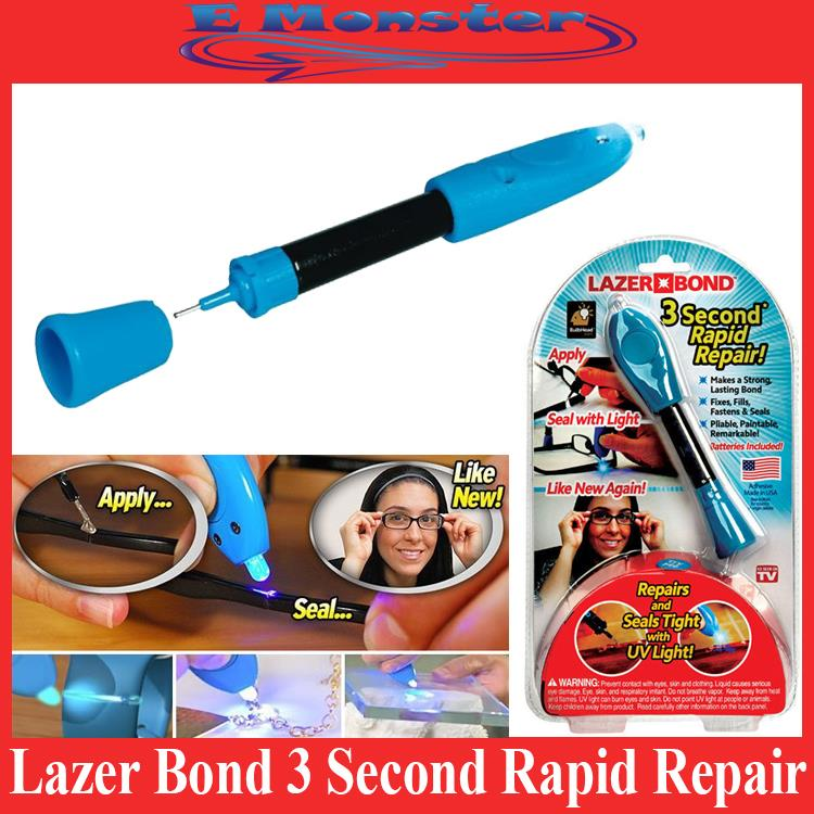 Lazer Bond 3 Second Rapid Repair! Seals Tight Weld with UV Light