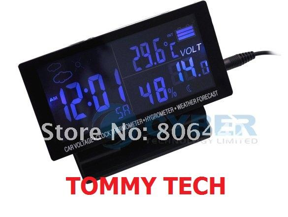 LCD Display Car clock with Hygrometer Digital Automotive Thermometer W..