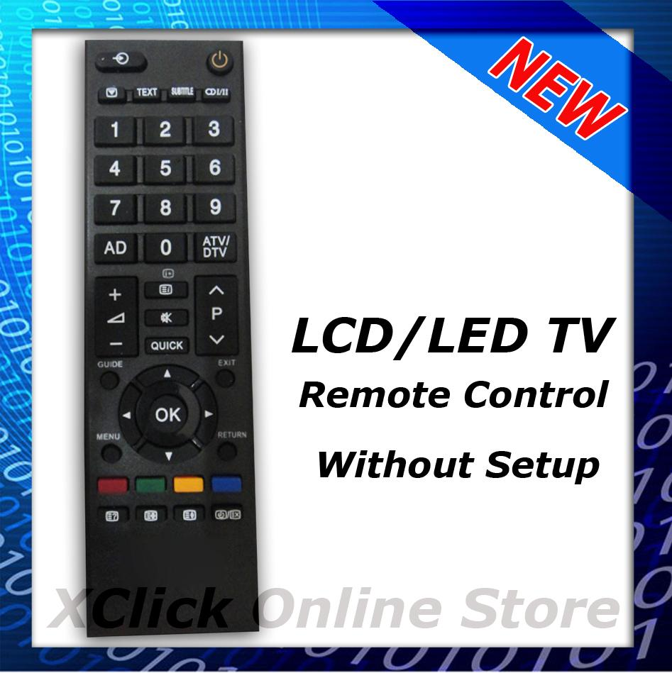 LCD LED TV Remote- Compatible for Toshiba