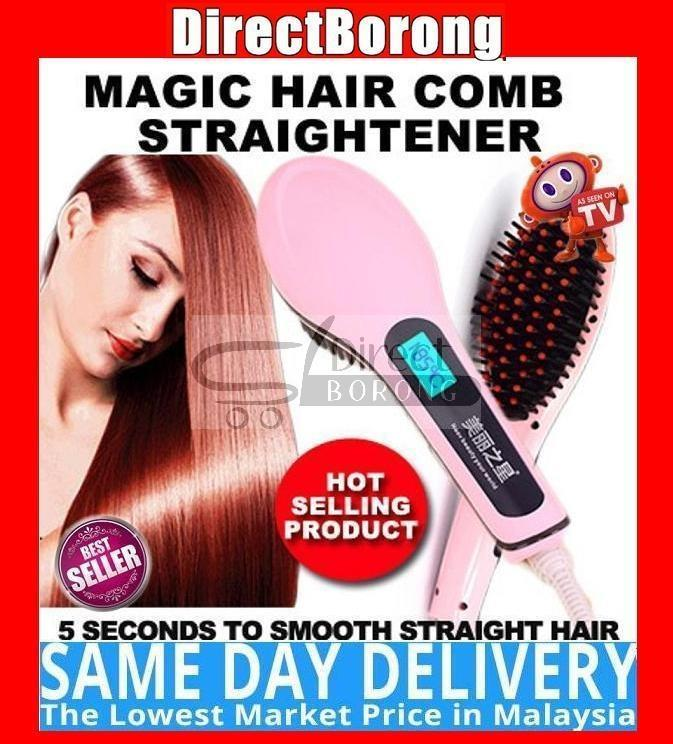 LCD Magic Hair Comb Straightener Instyler