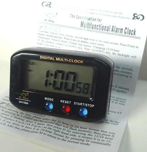 LCD table alarm clock gift back light digital
