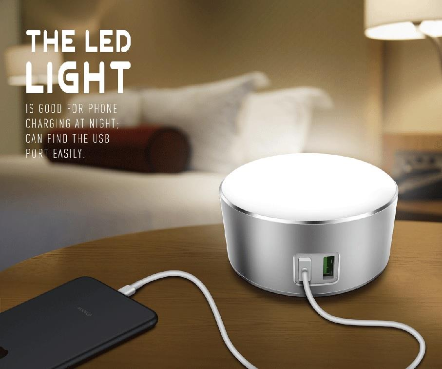 LDNIO A2208 2 in 1 LED Light Touch Lamp + 2 Dual Double USB Charger
