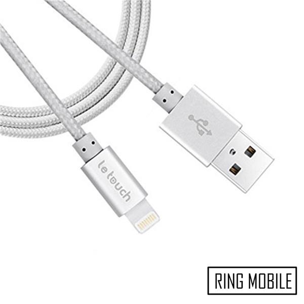 Le Touch Meuse 120cm Lightning Cable with MFi / Silver - Original