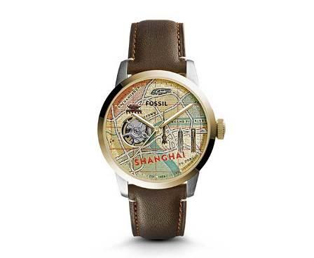 LE1037 - TOWNSMAN BROWN LEATHER MEN'S WATCH