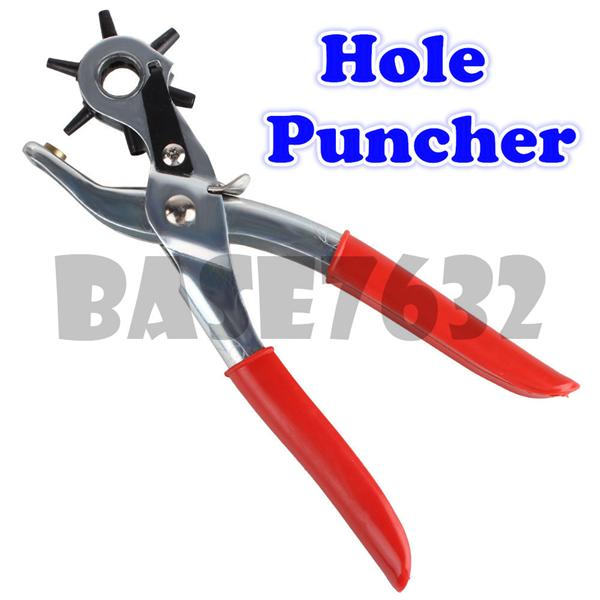 Leather  Hole Punch Hand Pliers Belt Holes Puncher Plastic Rubber