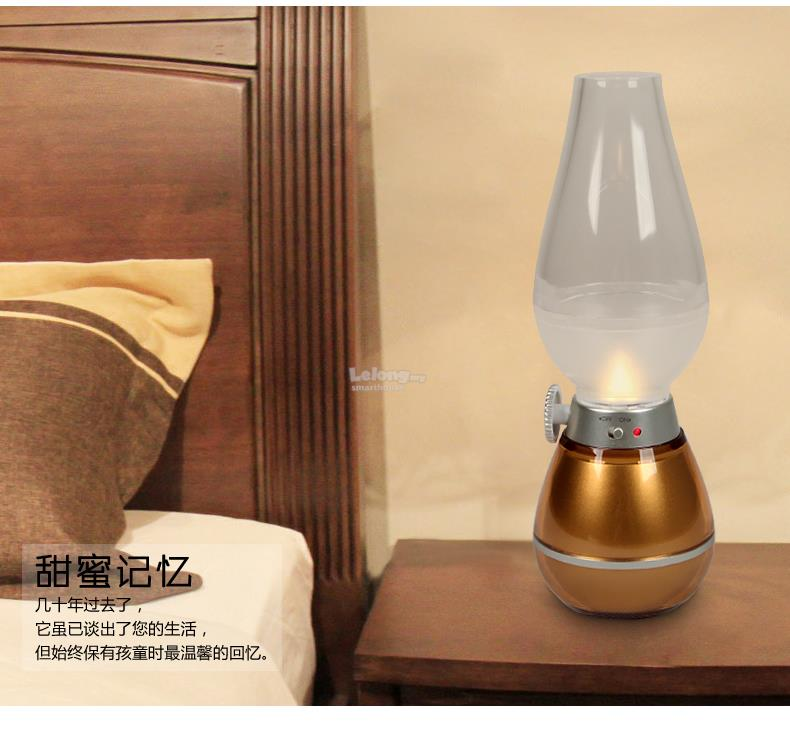 LED brilliant kerosene lamp /USB charger voice Nightlight Orange