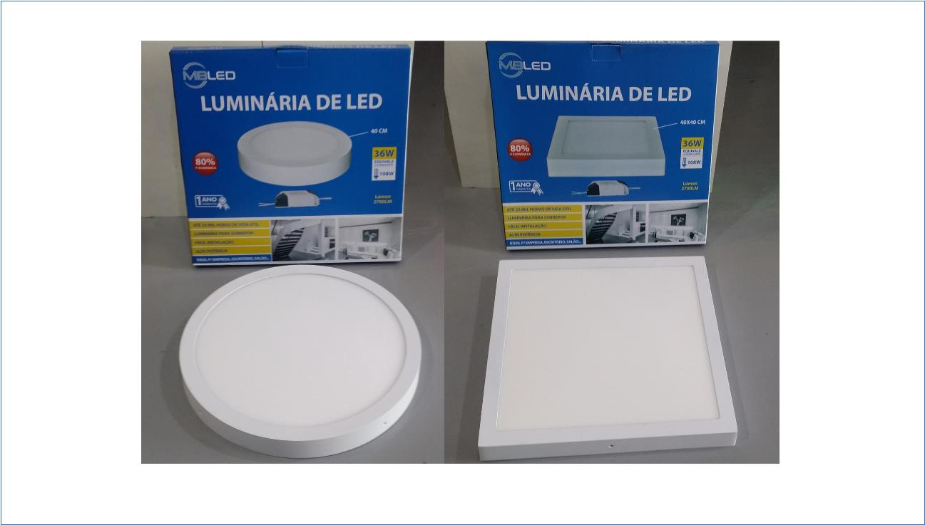 LED SURFACE PANEL LIGHT (1155) ROUND N SQUARE 36W