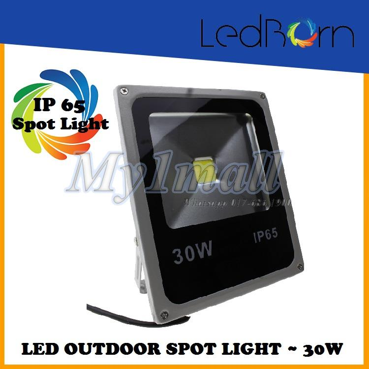 LedBorn LED 30w Outdoor Spot Light  Flood Light - White