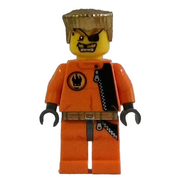 LEGO 2008 Agents Gold Tooth Mini Figure