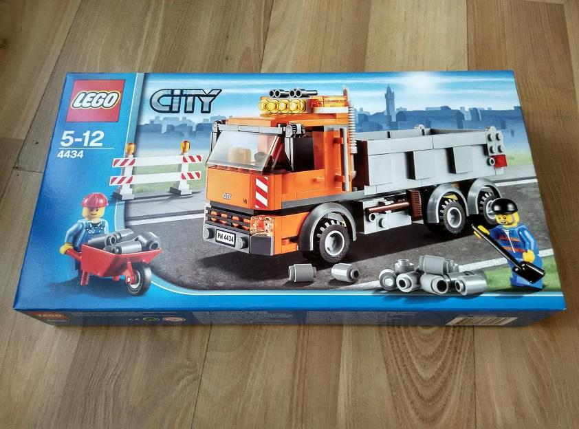 Lego City 4434 Orange Road Works Dump Truck