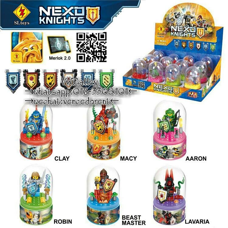 Lego Compatible SL8928A Nexo Knight Minifigure With Display Box