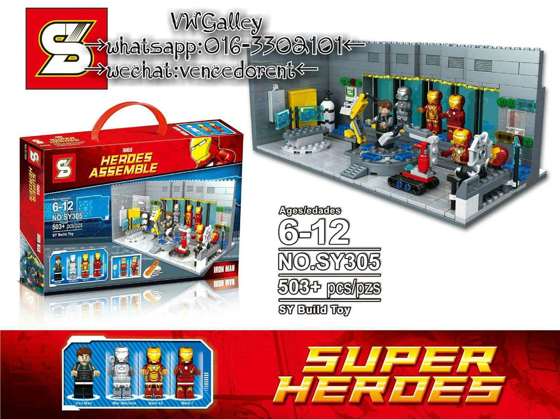 Lego Compatible SY305 Iron Man Laboratory Labs