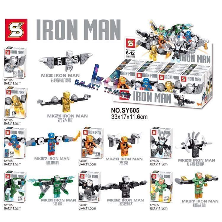 Lego Compatible SY605 Avengers Iron Man Mini Figures Flying Series