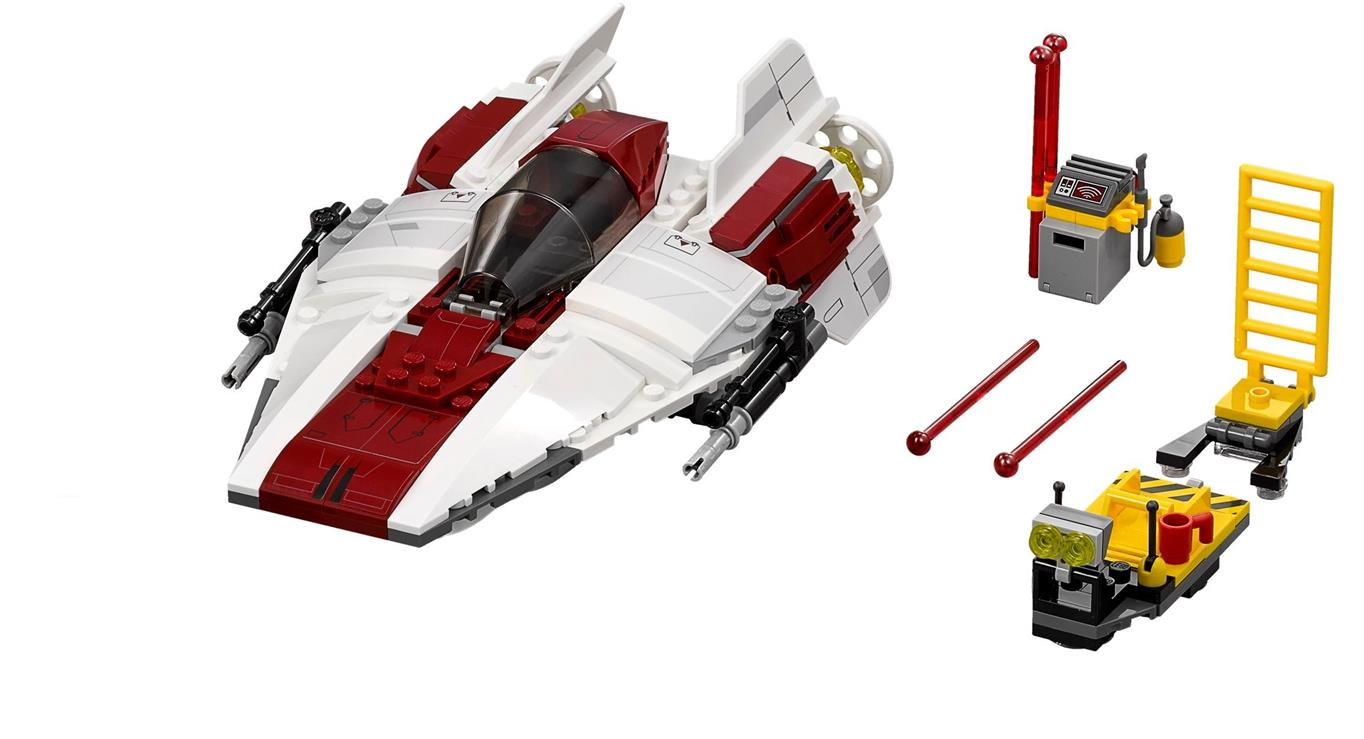 LEGO Star Wars A-Wing Fighter Only + Accessories NEW Split From 75175