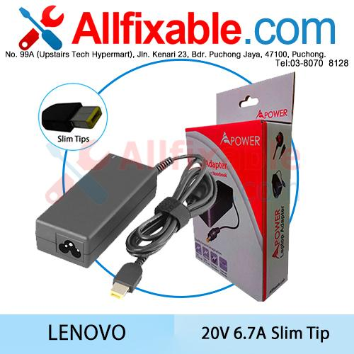 Lenovo 20V 6.7A (Slim Tip) ThinkPad T440P T540P Adapter Charger