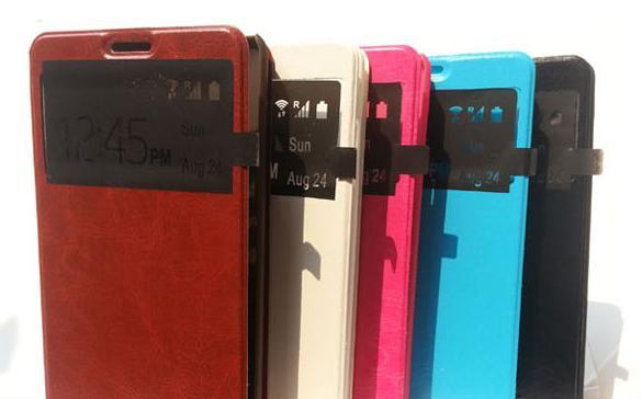 LENOVO A880 WINDOW FLIP PU HANDPHONE CASE