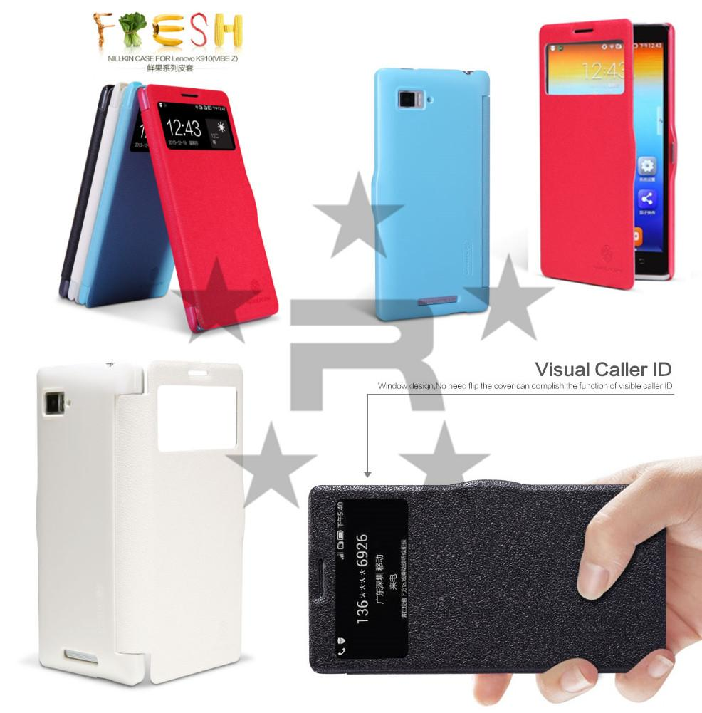 Lenovo K910 Vibe Z Nillkin Fresh Series Leather Case - rmtlee