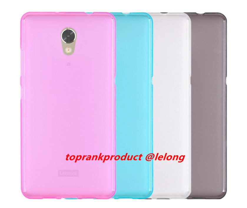Lenovo P2 Matte Transparent TPU Case Cover Casing + Screen Protector