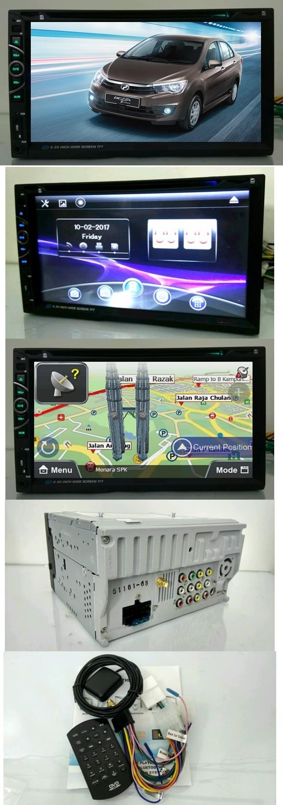 LEON Pedodua Axia Bezza 6.95 FHD DVD GPS USB Bluetooth Player