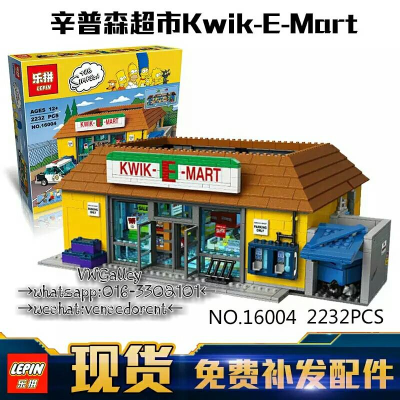 LEPIN 16004 The Simpsons: The Kwik E-Mart (Ready Stock)