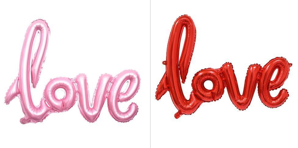 LETTER LOVE ALUMINUM BALLOON
