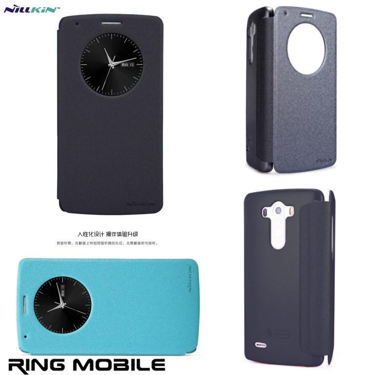 LG Optimus G3 Nillkin Sparkle Series Circle View Leather Case - rmtlee