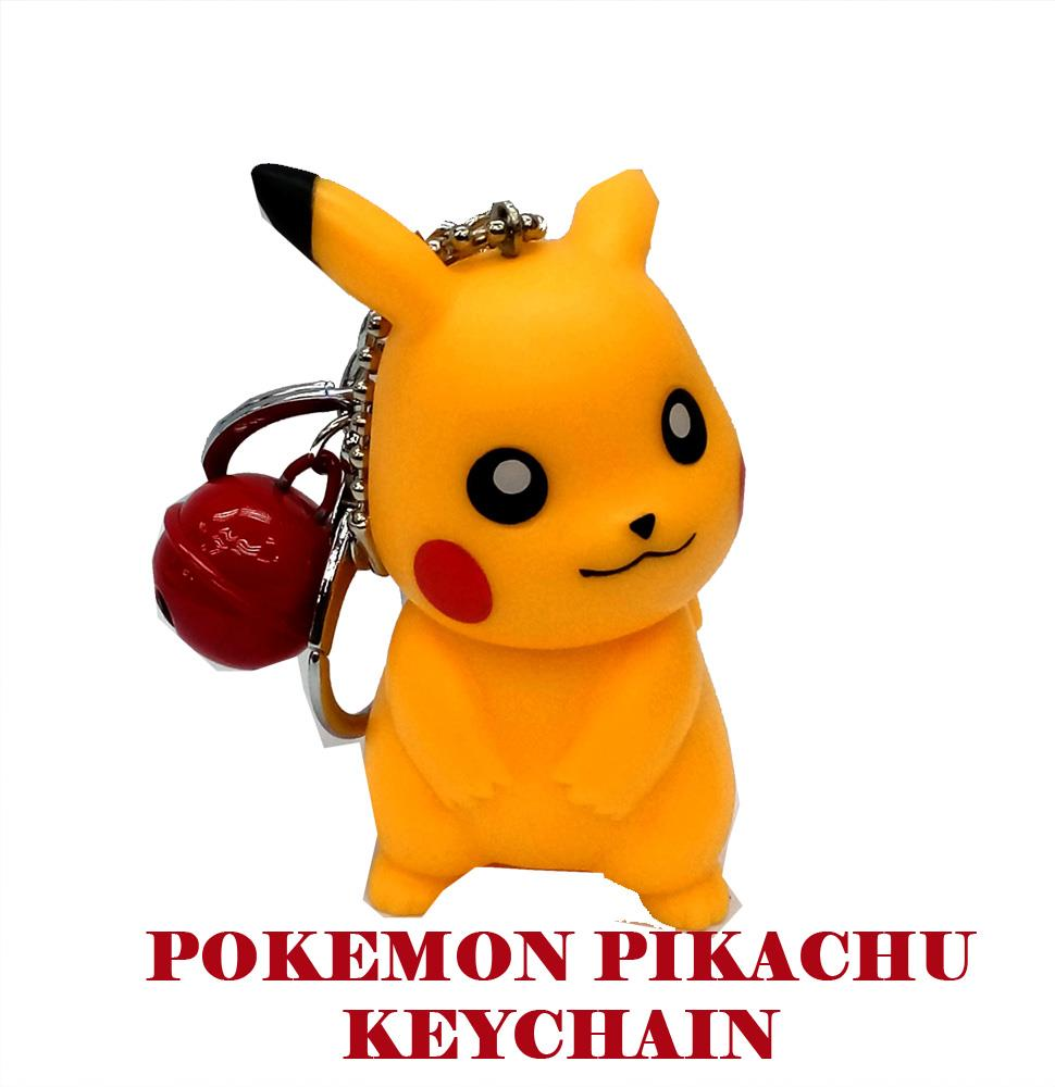 LIMITED EDITION POKEMON PIKACHU FIGURINE KEYCHAIN WITH BELL