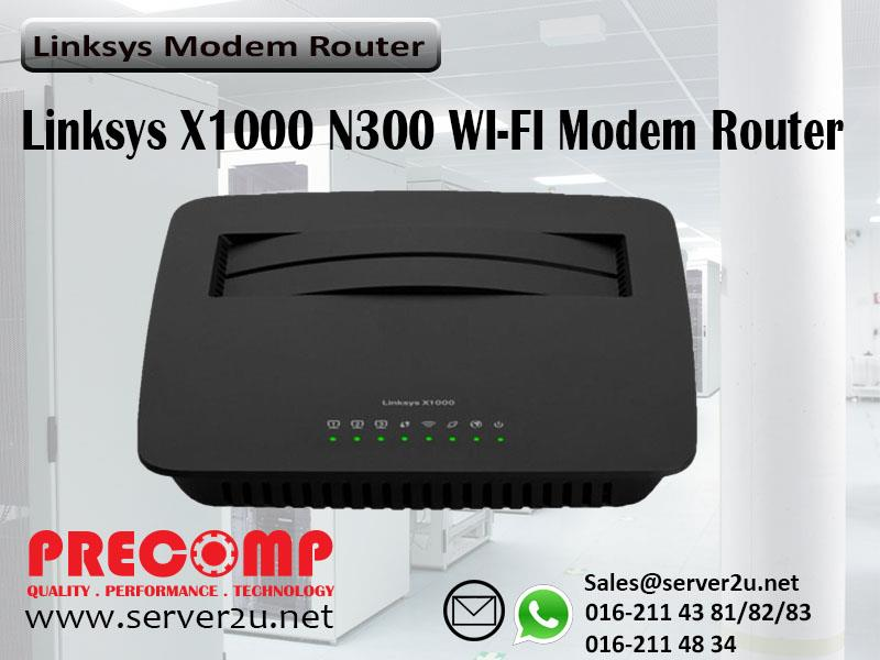 Linksys N300 WI-FI Modem Router (X1000)