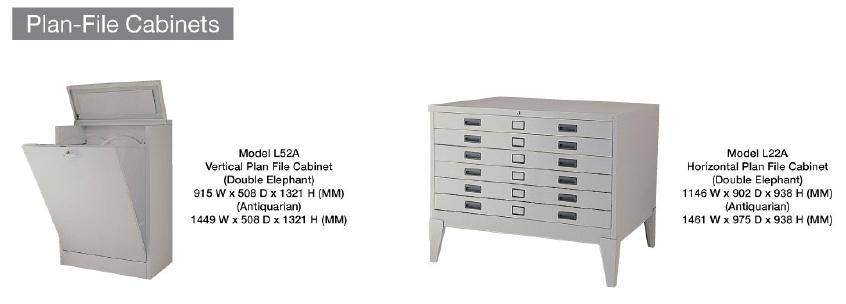 Lion Plan File Cabinet Horizontal L22A 1146Wx902Dx938H Double Elephant