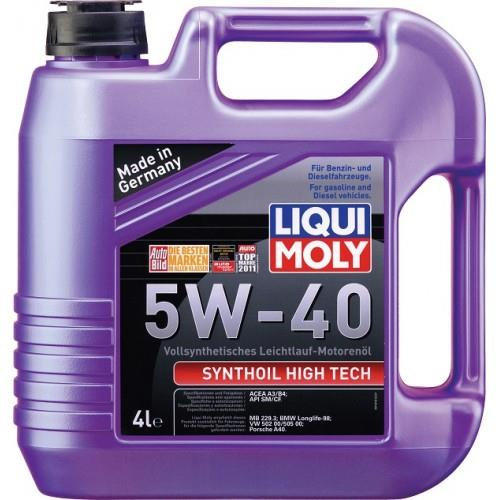 LIQUI MOLY SYNTHOIL HIGH TECH 5W-40 FULLY SYNTHETIC ENGINE OIL 4LTS