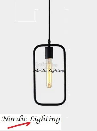 Loft Pendant Light (JL-RECTANGLE-BK)