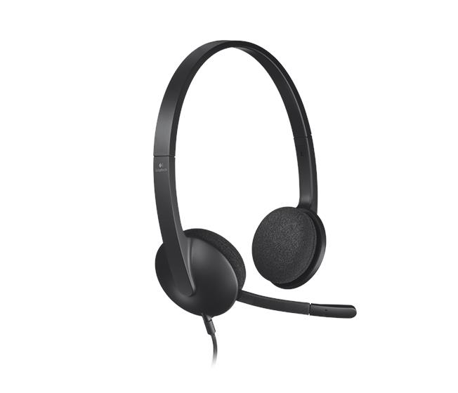 Logitech USB Headset H340-Black Plug-and-Play USB headset 981-000477
