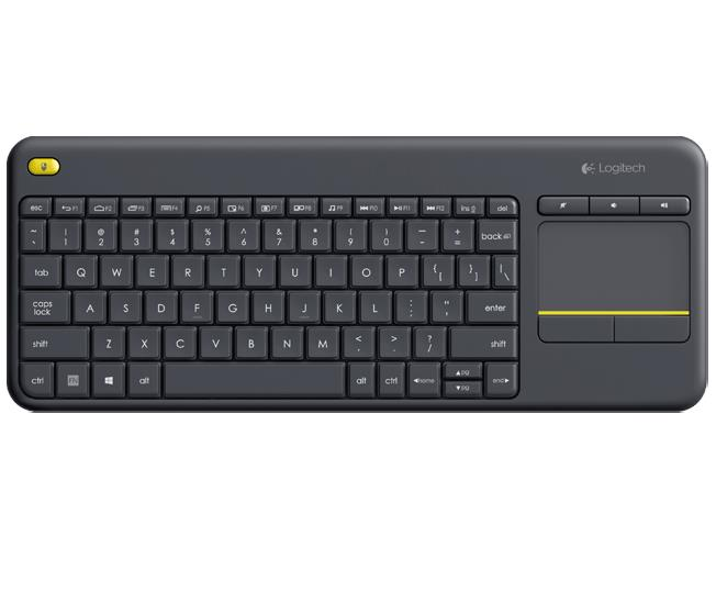 Logitech Wireless Touch Keyboard K400 Plus-Black 920-007165