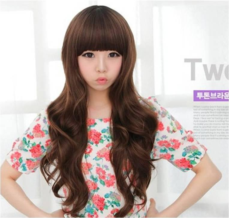 long curve wig 112/ready stock/rambut palsu