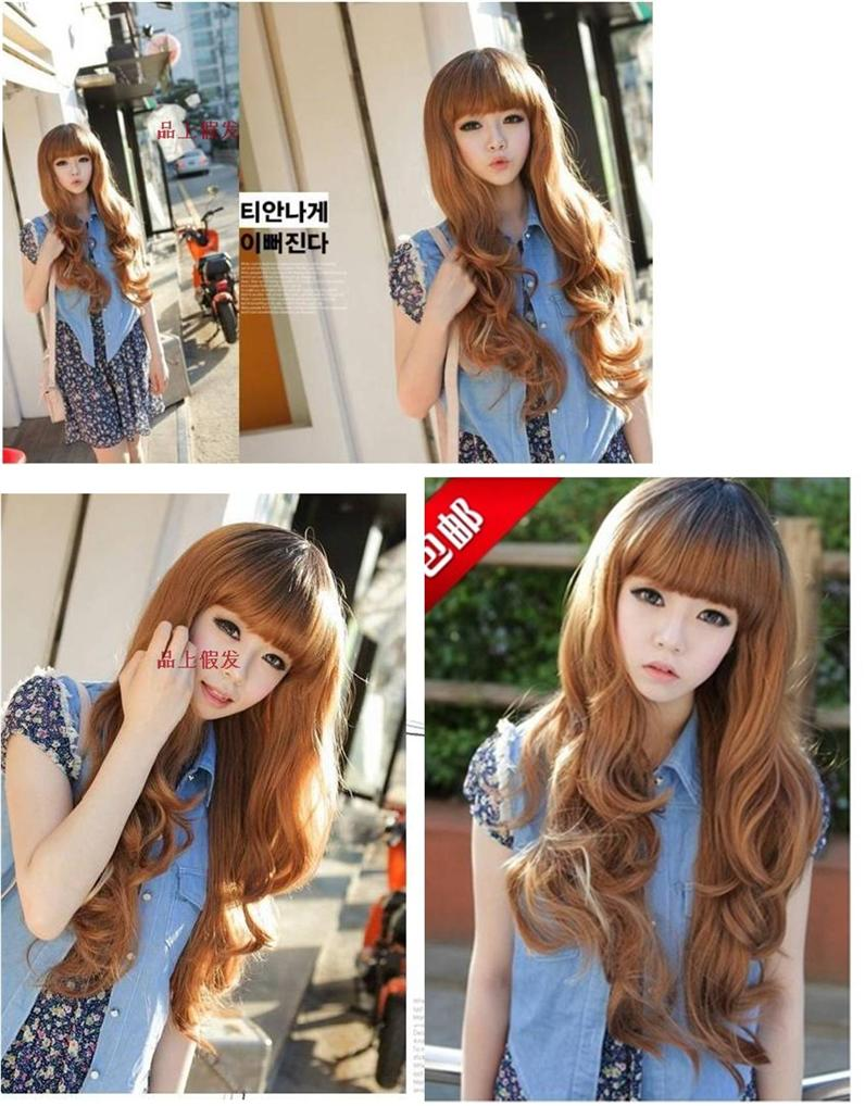 Long curve wig*d14 ready stock-rambut palsu