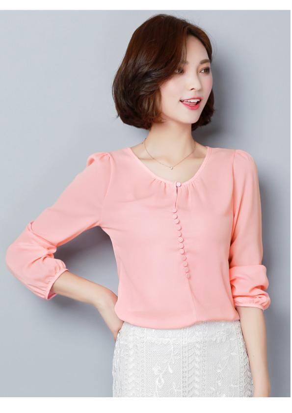 Long Sleeve Chiffon Top (Code:E5253)