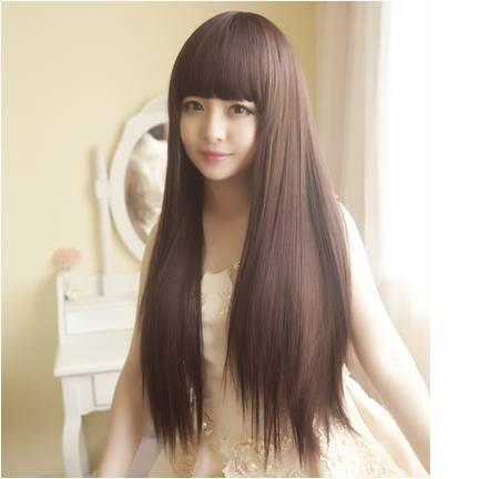 Long straight wig*ready stock 23-rambut palsu /promotion deal