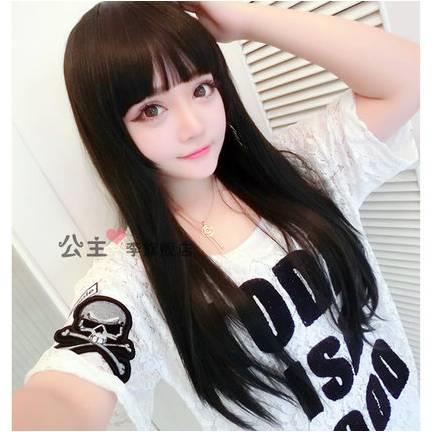Long straight wig * ready stock a24-rambut palsu /promotion deal