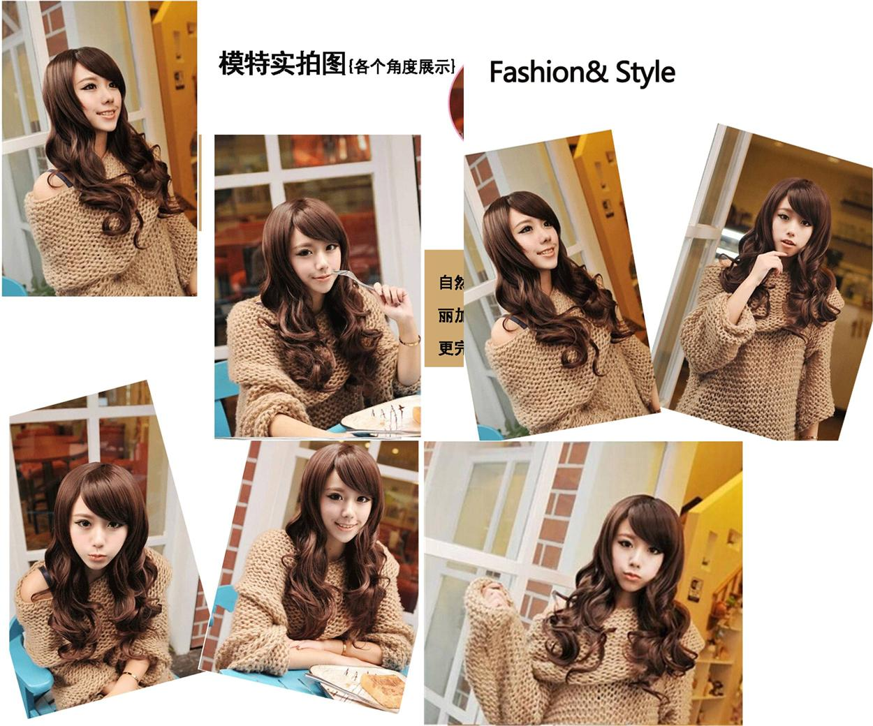 long wig*F21 ready stock honey brown-rambut palsu