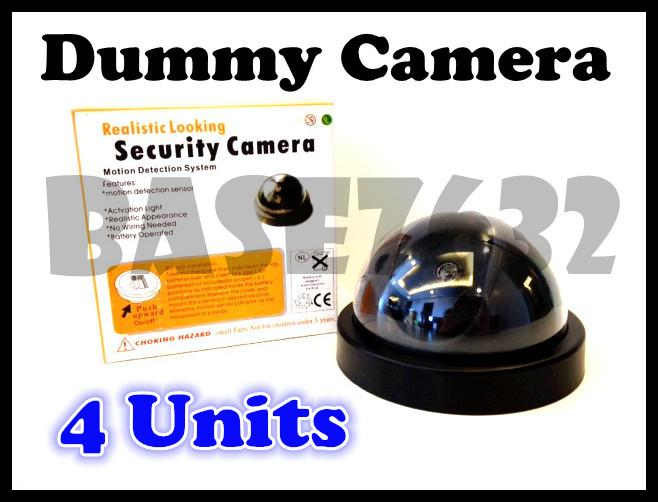 Lot of 4 pcs  Fake Dummy Security Surveillance CCTV Camera Led Light