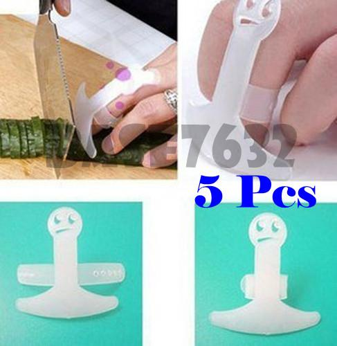 Lot of 5 pcs Finger Guard Protector Kitchen Tool Knife Chop Cut Gift