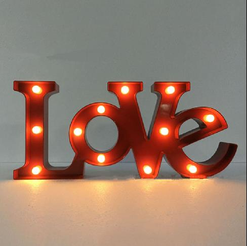 LOVE Alphabet LED Decoration