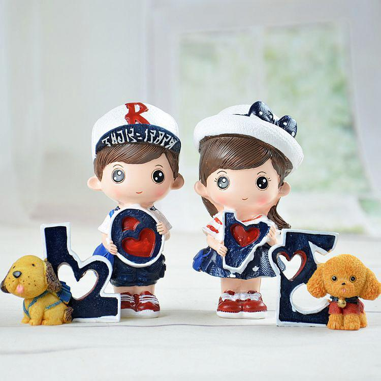 Love Navy Doll Morden Home Decoration / Valentine's Gift