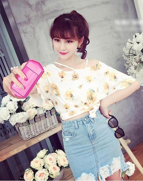 Lovely Floral Blouse (Yellow)