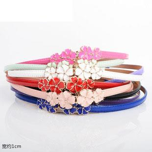 Lovely Flower Adjustable Thin Belt