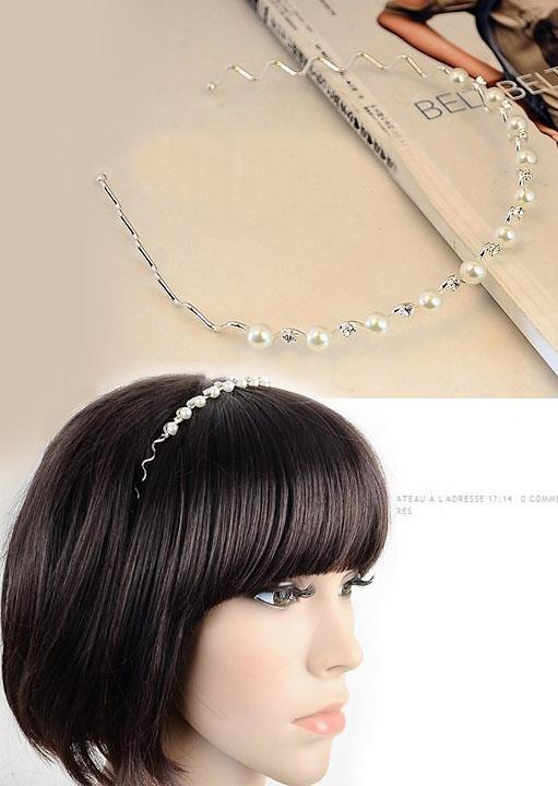 Lovely Pearl Wave Hair Band