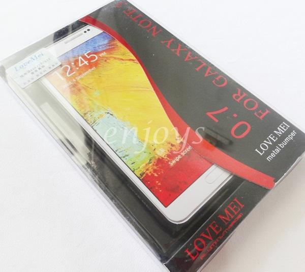 LoveMei 0.7mm Metal Aluminum Bumper Samsung Galaxy Note 3 N9005 ~BLACK