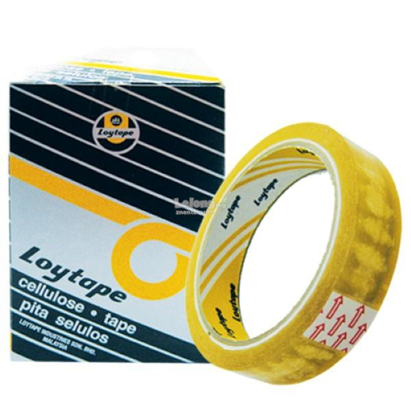 Loytape Cellulose Tape - 24mm x 40m (Item No: LOY-24X40)