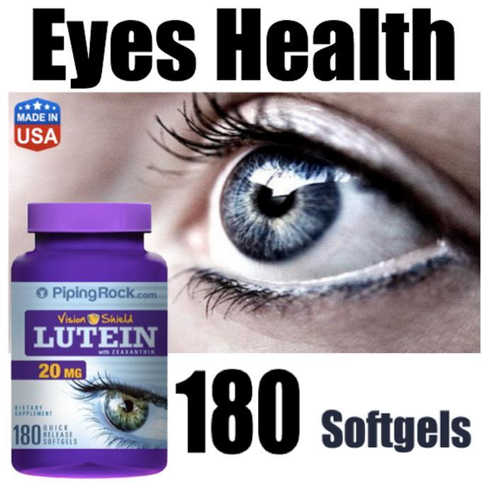 Lutein 20mg With Zeaxanthin 20mg, 180 Softgels, Eyes Health (USA)